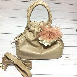 Talbots   Leather Mini Purse w/ Flower EUC!